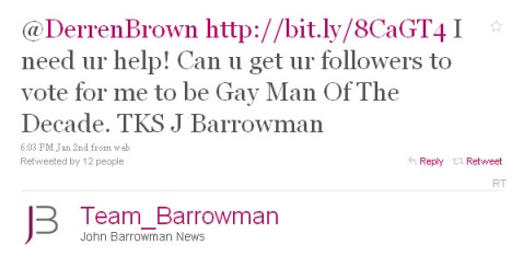 John Barrowman in blatant attempt to steal NPH's title.