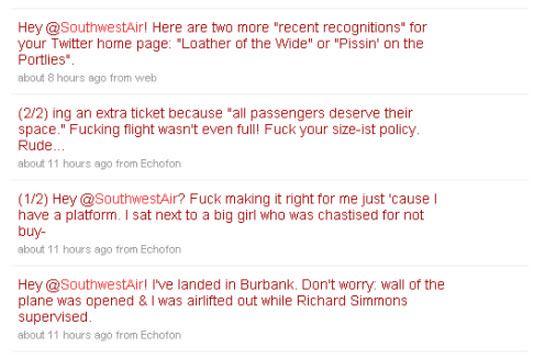 kevin smith final twitter rant against southwest air 2-14-2010 10-01-09 AM