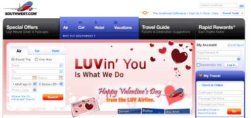 southwest airlines v-day ad  2-14-2010 8-42-00 AM