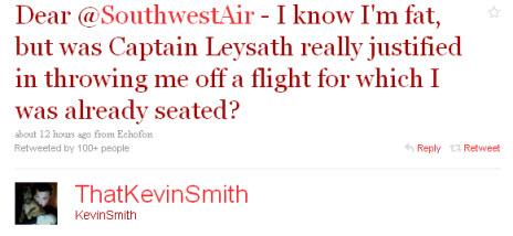 thatkevinsmith starts southwestair twitter rant 2-14-2010 8-51-03 AM